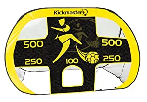 Kickmaster Quick Up Goal And Target Shot - Yellow/Black