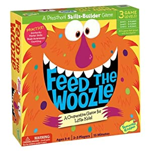 Kid's Board Game - Feed the Woozle Preschool Skills Builder Game