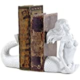 Bellaa Cream Resin Mermaid Bookends