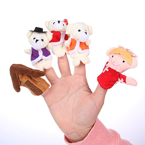 "Foto4easy ""Goldilocks & the Three Bears "" Nursery Rhyme Fairy Tale Story-telling Finger Puppets (5 Pieces)"