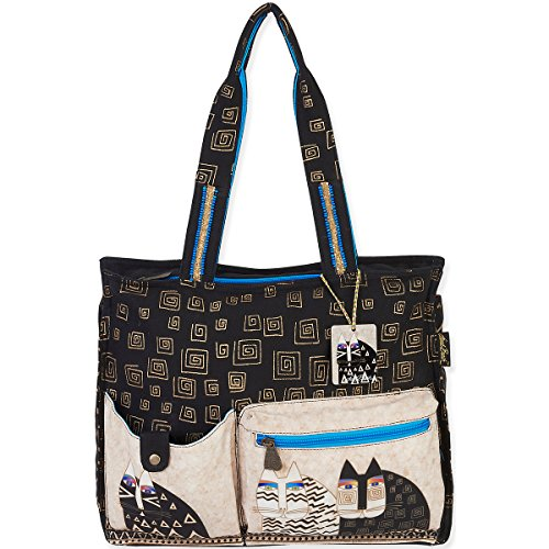 Cheap Laurel Burch Wild Cats Shoulder Tote, 16 by 4.5 by 13-Inch