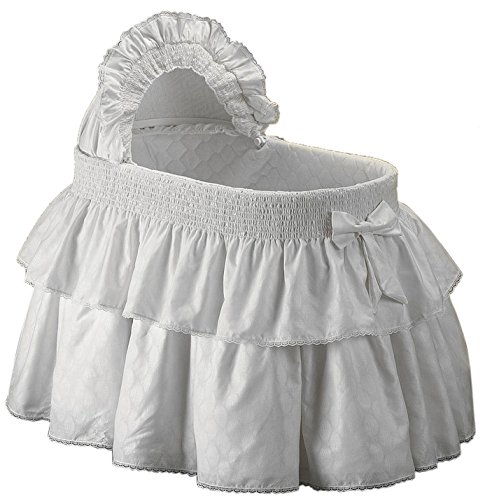 Baby Doll Paradise Bassinet Bedding Set, White