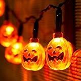 Xcellent Global 2 Modes Battery Operated String Light With Pumpkin 20 LEDs 7.2ft Fair Light For DIY Halloween Decoration M-LD067