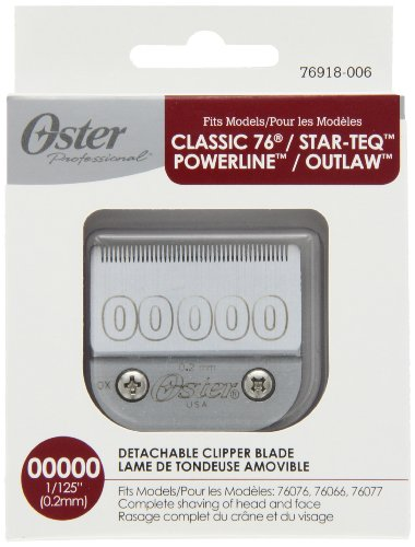 Oster Professional 76918-006 Replacement Clipper Blade, Size 00000