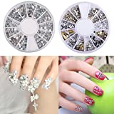 Hot Nail Art Rhinestones Glitters Acrylic Tips Decoration Manicure Wheel