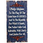 Weathered Pledge of Allegiance Wall Plaque
