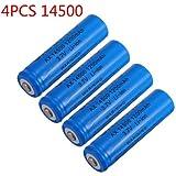 UltraFire New3.7V 14500 1200mAh Rechargable Li-Ion Batteries (4-count)