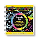 Use the stylus to doodle and draw in this compact spiral-bound book. It's filled with 16 Scratch Art pages (8 multicolor, 8 silver holographic) and is easy to throw in your backpack--so you never need to leave home without Scratch Art! Includes wooden stylus.