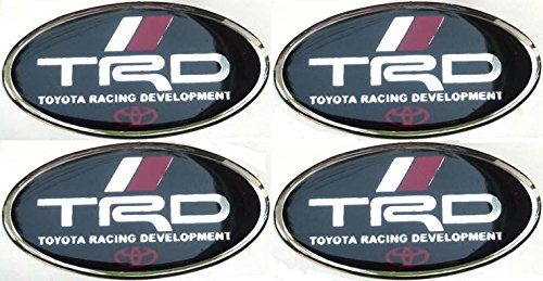 4 Pcs Toyota TRD Oval Resin Sticker Decals Label Center Wheel Caps Cover Hub Rim Racing Development (Trd Resin compare prices)