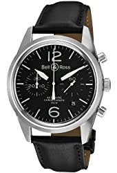 Bell & Ross Men's BR-126-ORIGINAL BLACK Vintage Black Chronograph Dial Watch Watch