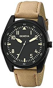 Geneva Men's 1673E-GEN Digital Display Quartz Beige Watch