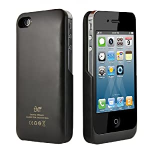 BXT-2200mAh External Power Pack Case and Rechargeable Backup Battery Charger for Apple iPhone 4 & 4S - Black Colour