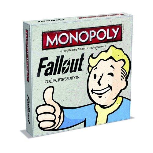 Winning Moves 027168 - Gioco da Tavolo Monopoly Fallout , Edizione da Collezione Versione Inglese