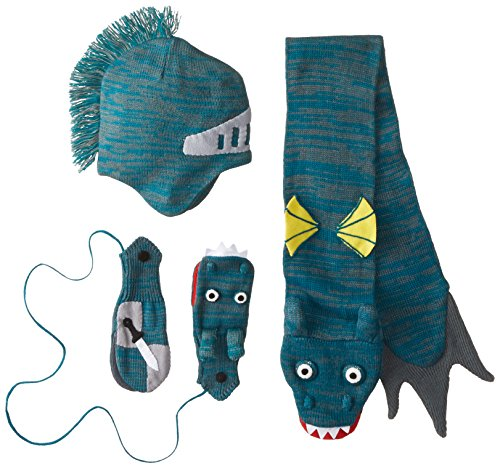 Kidorable Little Boys' Dragon Knight Hat Scarf Set, Green, Small
