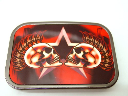 Wicked Metal Belt Buckle Tattoo Mohawk Skulls Punk EMO Rock Biker