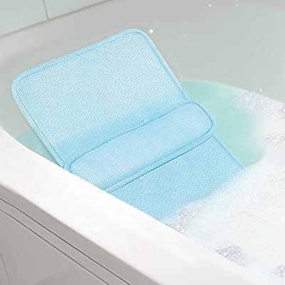Home Spa Bath Lumbar Cushion - Custom Back Comfort Relaxation In The Tub by IdeaWorks