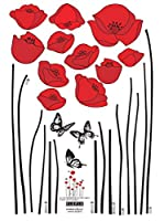 Ambiance-sticker Vinilo Decorativo Red Poppy Flowers
