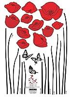 Ambiance Sticker Vinilo Decorativo Red Poppy Flowers