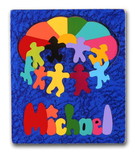 Cheap KidPuzzles Wooden Name Puzzle 2 layers Dancing Children (B00564HNR8)