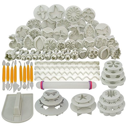Marrywindix 68pcs 21 Sets Cake Decration Tool Set By Catalina Fondant Cake Cutter Mold Sugarcraft Icing Decorating Flower Modelling Tools (Detail Cutter compare prices)