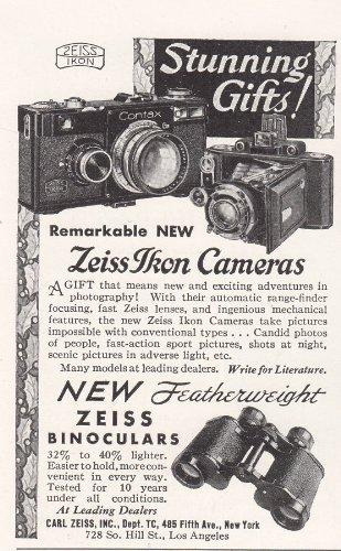 1935 Zeiss Binoculars: Zeiss Ikon Cameras, Carl Zeiss Print Ad