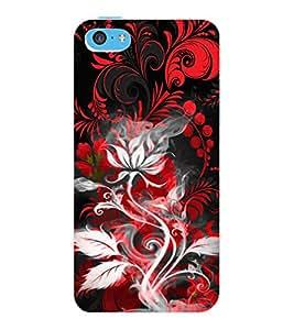 ColourCraft Floral Design Back Case Cover for APPLE IPHONE 5C