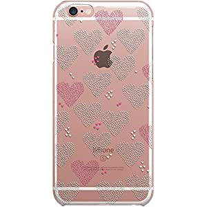 Dailyobjects Hearts Clear Case For iPhone 6S