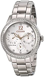 Citizen Women's FD2010-58A Silhouette Crystal Analog Display Japanese Quartz Silver Watch