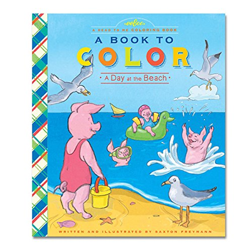 eeBoo A Day at the Beach Color Book - 1