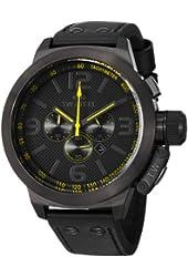 TW Steel Men's TW901 Canteen Black Leather Strap Watch