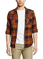 Levi's Camisa Hombre Barstow Western (Naranja / Negro)