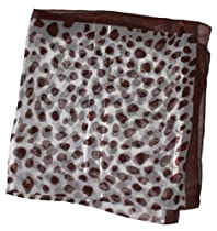 LibbySue-Autumn Neckerchief Scarf with Brown Polka Dots