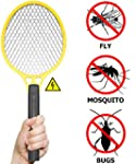 BugzOff� Electric Fly Swatter Racket...
