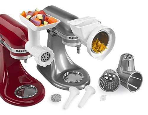 Why Should You Buy KitchenAid KGSSA Stand Mixer Attachment Pack 2 with Food Grinder, Rotor Slicer &a...
