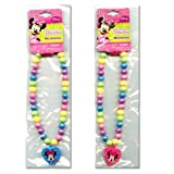 Disney Minnie Mouse Bow-tique Rainbow Beaded Necklace by Jersey Bling