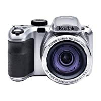 "Kodak PixPro Zoom AZ361 Digital Camera, 16MP, 36x Optical/4x Digital, 3"" LCD Display, HDMI/USB 2.0, HD 720p Video, Silver from Kodak"