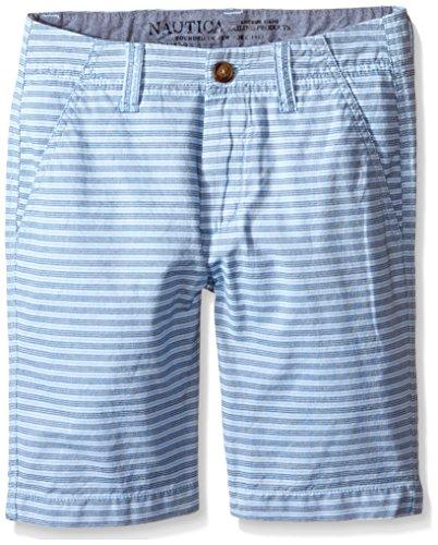 Nautica Big Boys' Cotton Stripe Short, Cool Breeze, 12