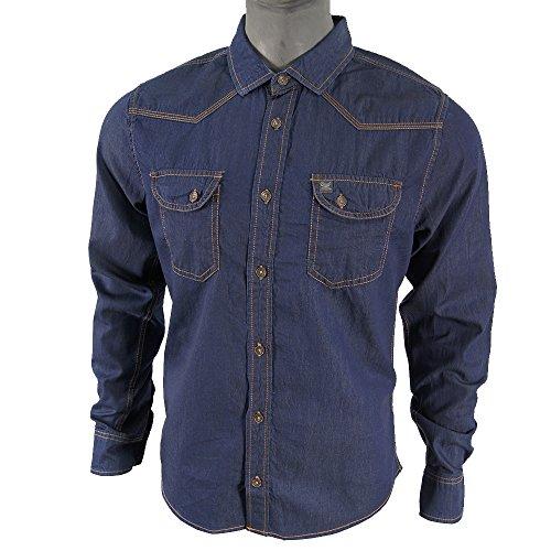 Petrol Industries Maglietta maniche lunghe blu XXL