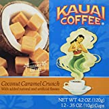 Kauai Coffee Coconut Caramel Crunch Single-Serve Cups, 12 Count