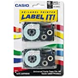 "Tape Cassettes for EZ-Label Printers, 1/2"", Black/White, 2/Pack CSOXR12WE2S"