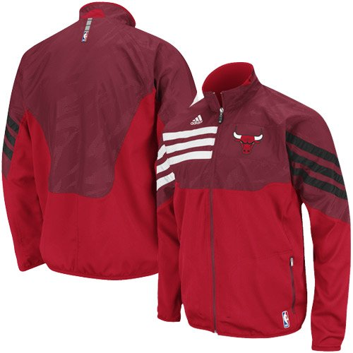 NBA adidas Chicago Bulls Red On-Court West Full Zip Jacket (X-Large) at Amazon.com