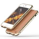 iPhoneSE ケース、iPhone5s ケース、iPhone5 ケース カバー【LUPHIE】[スクラッチ保護] [ドロップ保護] [耐震] LUPHIE保護金属シェル航空宇宙アルミニウムアイフォン5 SE 5s用 耐衝撃カバー (iPhone 5/5s/SE, シャンパンゴールド)