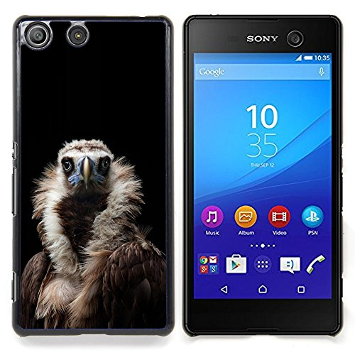 - Condor Bird Black Vulture Nature Feather/ Copertura dura Snap On Cell Phone - Cao - For Sony Xperia M5