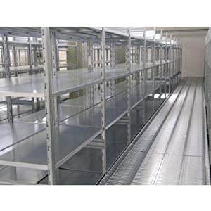 Scaffalatura metallica zincata ad incastro con 5 piani cm for Piani di casa in metallo