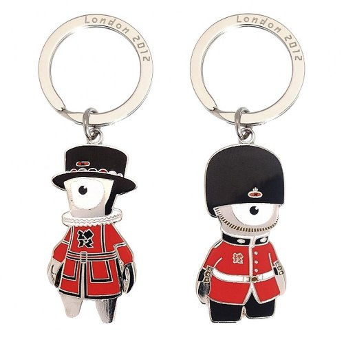 London 2012 Beefeater & Queen's Guard Keyring Set