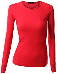Doublju Womens Stretchy Round Neck Lo…