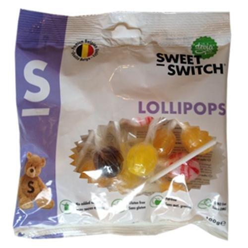Sweet-Switch Lollipops – Lutscher ohne Zuckerzusatz, 100g