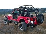 Body Armor 4x4 TJ-6125 Short Wheel Base Roof Rack Base Unit for 1997-2006 Jeep TJ