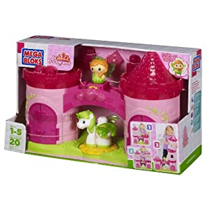 Mega Bloks Lil Princess Buildable 3 Story Enchanted Castle