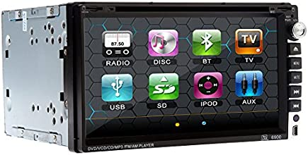 Universal 6.95 Zoll 2din in-dash-Auto CD MP3 DVD Player Receiver mit Bluetooth, FM, iPod, Radio rds